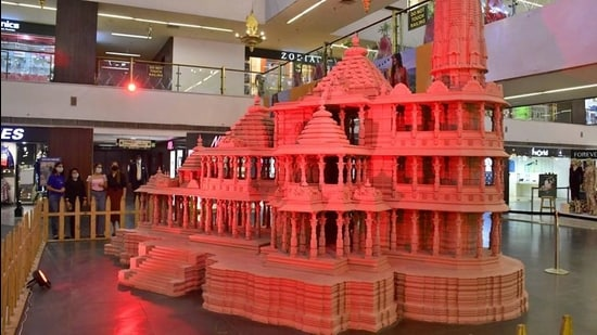 A replica of Ayodhya's Ram Temple. (HT Archive)