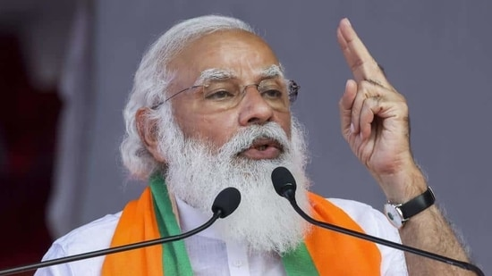 """""""The certificate, issued for receiving the free Covid-19 vaccine in the state, carries photo of Prime Minister Narendra Modi and excerpts of his speech"""" said Midhun Shah (File photo)"""
