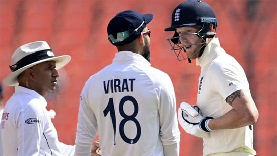 Ben Stokes and Virat Kohli had a rather long and heated exchange. (AFP)