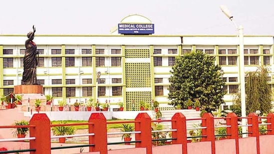 The IGIMS building in Patna.(HT file photo)