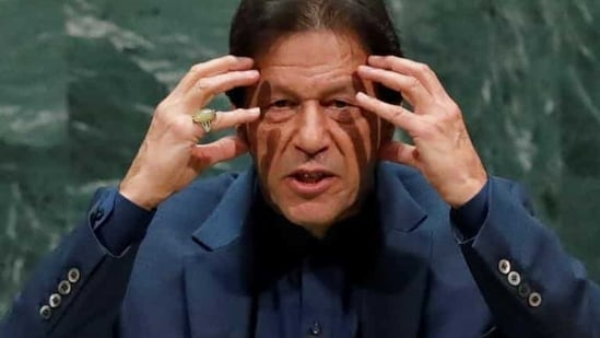 Pakistan Prime Minister Imran Khan appeared to indicate there was a possibility he could lose the crucial vote.(REUTERS)