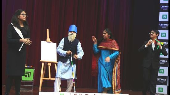 A still from Chitkara International School's virtual annual day. (HT Photo)
