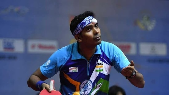 Sharath Kamal Achanta of India(Getty Images)
