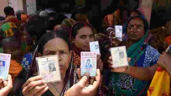 The Supreme Court has sought responses from the Election Commission, Centre and Assam government on a petition filed by 26 Muslim women from Assam's Barpeta constituency (Photo by Arabinda Mahapatra / Hindustan Times)(Arabinda Mohapatra)