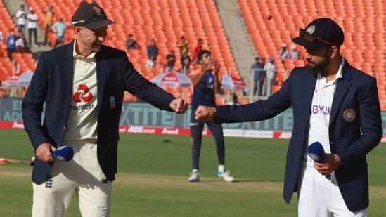 Virat Kohli and Joe Root at the toss. (BCCI)