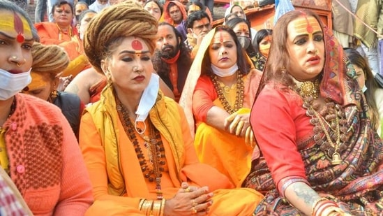 This year's fair is setting a new precedent giving transgender seers an opportunity to take part in Kumbh rituals. (HT Photo)