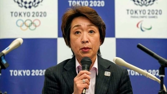 FILE PHOTO: Seiko Hashimoto, President of the Tokyo 2020 Organising Committee, speaks during a media briefing after a council meeting in Tokyo, Japan March 3, 2021. Kimimasa Mayama/Pool via REUTERS/File Photo(REUTERS)