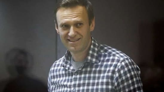 Russian opposition politician Alexei Navalny during a hearing to consider an appeal against an earlier court decision to change his suspended sentence to a real prison term, in Moscow. (Reuters File Photo )