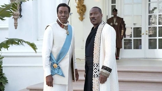 Coming 2 America movie review: Arsenio Hall and Eddie Murphy in the movie,