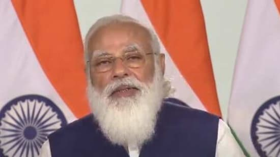 The Prime Minister also said that India's forest cover had grown significantly over the last seven years and the population of lions, tigers, leopards and waterfowls went up during this time period.(Screengrab)