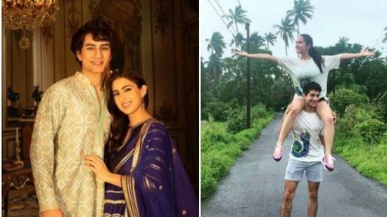 Sara Ali Khan and Ibrahim Ali Khan are siblings and he often features in her posts.