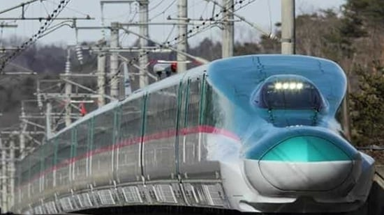 The distance between Ahmedabad and Mumbai will be covered in two hours once the bullet train starts.
