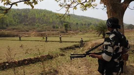 An encounter between Maoists and the elite security force was underway, reports said. File Photo/Representational(HT Photo)