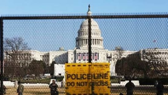 The Capitol Police cited a spike in threats against lawmakers during the first two months of this year in the request for continued support from the Guard.(AP)
