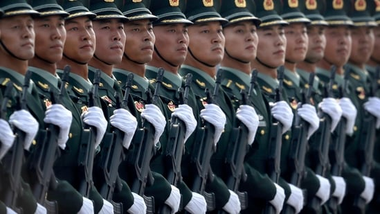 China is the second biggest spender of defence after the US. (AP Photo/Mark Schiefelbein)(AP)