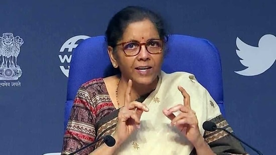 Union Finance Minister Nirmala Sitharaman added that the minimum threshold for initiating IBC proceedings has already been raised from <span class='webrupee'>₹</span>1 lakh to <span class='webrupee'>₹</span>1 crore, which largely insulates MSMEs.(ANI file photo)