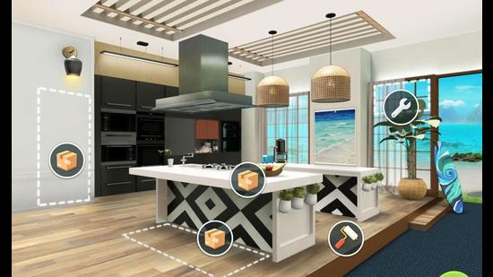 With a virtual home, especially one that's bigger, brighter and fancier than your own, redecorating is more rewarding than amassing points in a game. For many it offers tips on actual furnishing, and an escape from their own too-familiar houses. (DESIGN HOME CARIBBEAN LIFE)