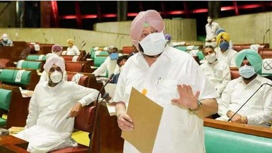 File photo of Punjab chief minister Captain Amarinder Singh.(HT Photo)