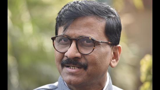 Shiv Sena Rajya Sabha MP Sanjay Raut. (HT FILE)