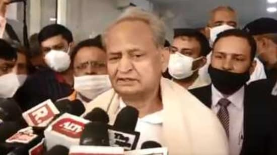 Gehlot also issued a warning, saying that chances of survival are less in people who are hospitalised after not following the protocols properly.(Twitter/@ashokgehlot51)