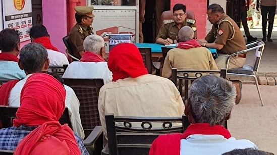 Police officials have created a list of village watchmen and noted down their mobile numbers.(HT photo)