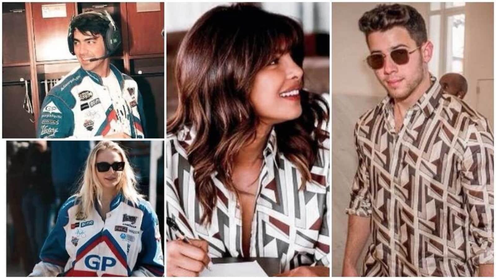 Priyanka Chopra, Sophie Turner love wearing their husbands Nick Jonas and Joe Jonas' outfits. These pics are proof - Hindustan Times