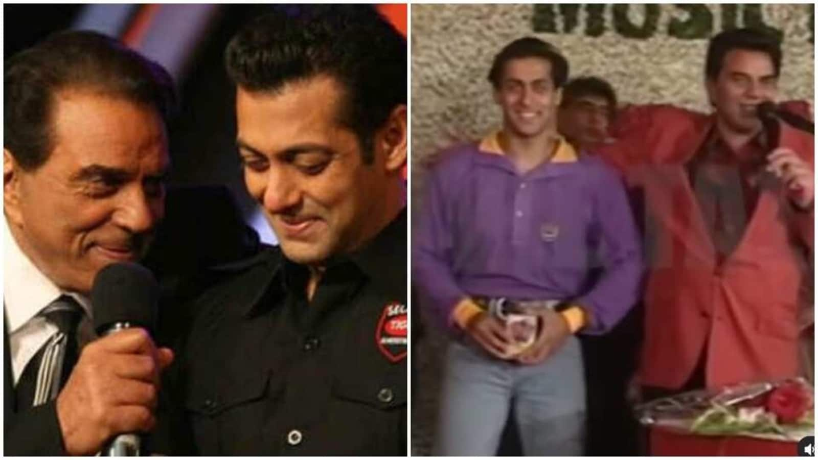 When Dharmendra called Salman Khan 'Suleiman' on stage, apologised with a hug. Watch - Hindustan Times