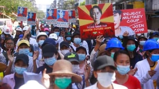 On Saturday, Myanmar security forces used tear gas and stun grenades to break up a protest in Yangon, just hours after a United Nations special envoy called on the Security Council to take action. (Representative Image)(AP)