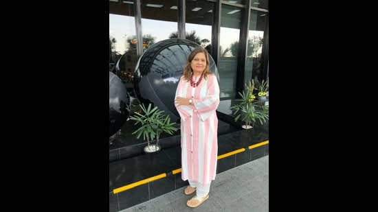 Sima Taparia, who was recently in Delhi to attend an event says she likes to shop in South Extension market.