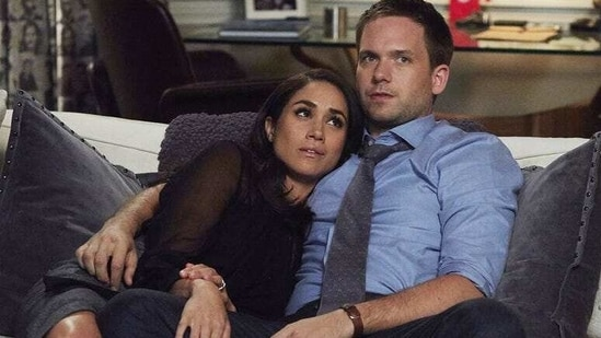 Patrick J Adams and Meghan Markle worked together on Suits.