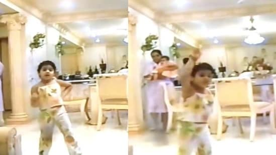 Janhvi Kapoor in an unseen video from her childhood.