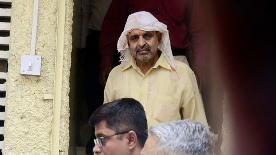 Milind Ekbote (In White scarf and cap) is the executive president of Samasta Hindu Aghadi. (Ravindra Joshi/HT PHOTO)