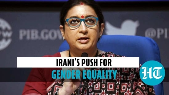 'Gender inequality challenges need to be met societally': Smriti Irani
