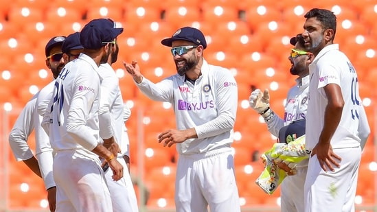 India beat England in 4th Test to win series 3-1 and qualify for World Test Championship final(PTI)