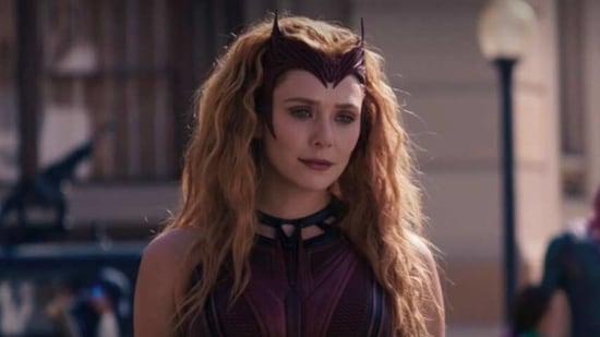 Elizabeth Olsen as Scarlet Witch in WandaVision.