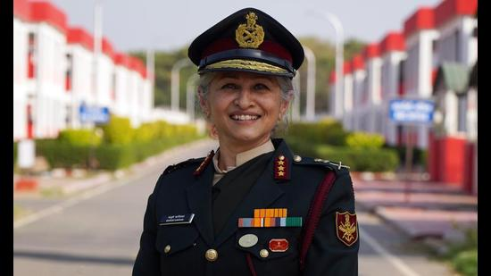 Lieutenant General Madhuri Kanitkar is the third woman in the Indian Armed Forces to be promoted to a three star rank. (Photo: Gokul VS/ HT)