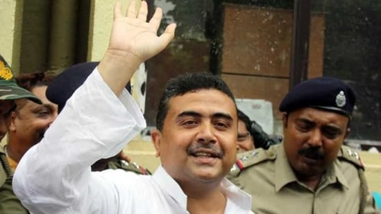 Subhendu Adhikari will contest West Bengal elections from Nandigram seat. (HT File Photo)