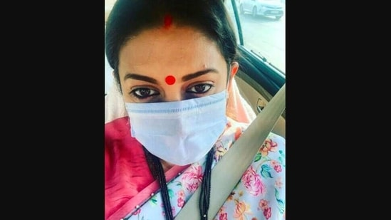 An image posted by Smriti Irani on Instagram. (Instagram/smritiiraniofficial)
