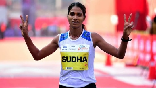 Photo of ace Indian distance runner Sudha Singh(HT Photo)