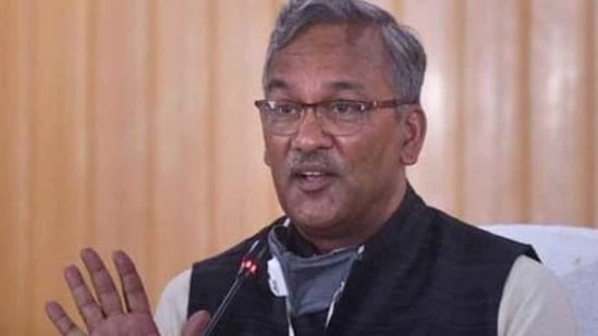 File photo: Uttarakhand chief minister Trivendra Singh Rawat.(PTI FILE)