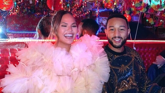 Chrissy Teigen and John Legend were seen grooving to Bollywood songs on Saturday night.