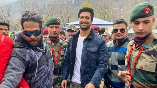 Vicky Kaushal at the Indian Army camp in Uri.