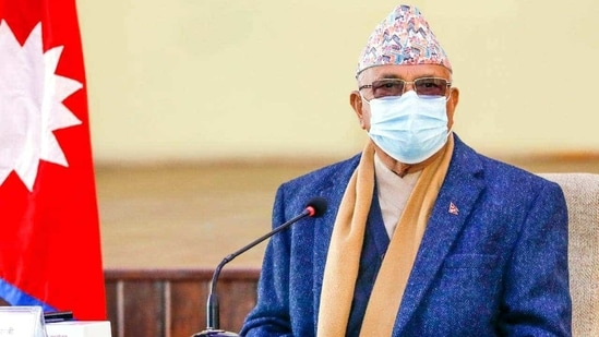 After getting the vaccine, Oli asked all senior citizens in the country to get the vaccine jabs, saying they are safe with no side-effects.(HT File Photo)
