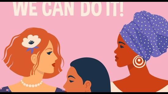 We can do it! Poster International Women's Day. Vector illustration with women different nationalities and cultures. (Getty Images/iStockphoto)