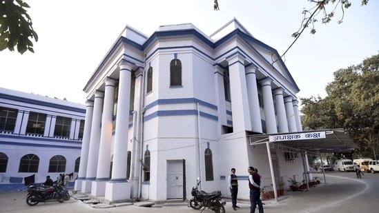 In this file photo dated, Feb. 14, 2021, is seen the old Bankipore General Hospital building of Patna Medical College and Hospital, popularly known as the PMCH, in Patna.(PTI Photo)
