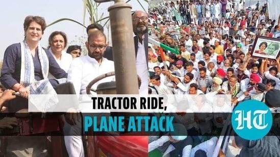 Priyanka Gandhi Vadra addressed a farmer rally in Meerut, UP (Twitter @INCIndia)