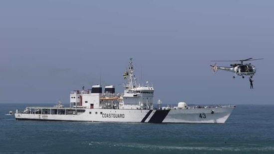 The Indian coast guard escorted all three vessels to Vizinjam.(File Photo)
