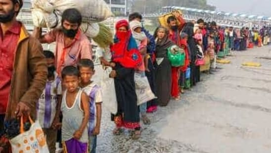 According to official data, nearly 5,700 Rohingya immigrants were settled in and around Jammu.(AP)