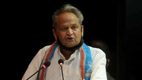 """""""Centre should increase the budget for Covid-19-related research,"""" Ashok Gehlot said.(HT Photo)"""