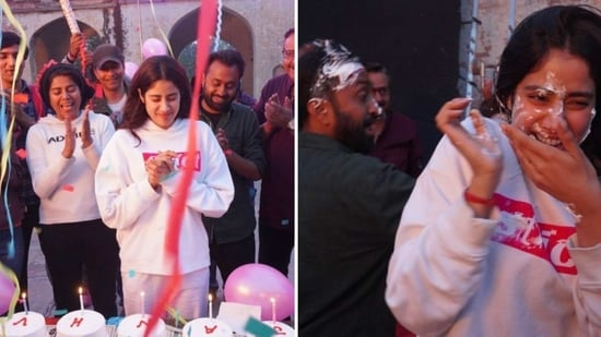 It was a working birthday for Janhvi Kapoor.